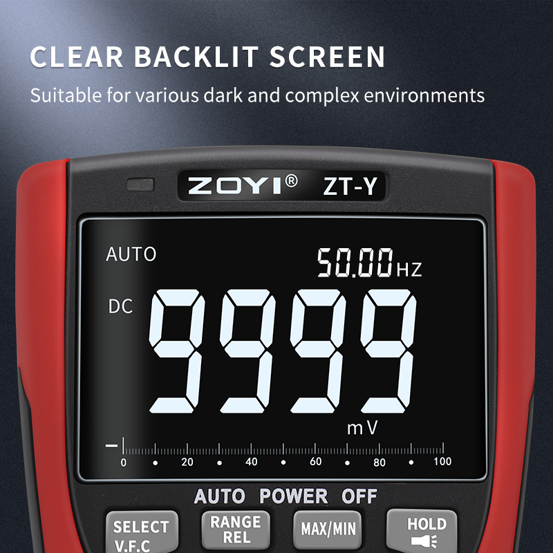 Professional Voltage Multimeter Multimetro Micro LCR Tester VFC Tester Digital Y Auto Current High Precision ZOYI Range ZT NCV