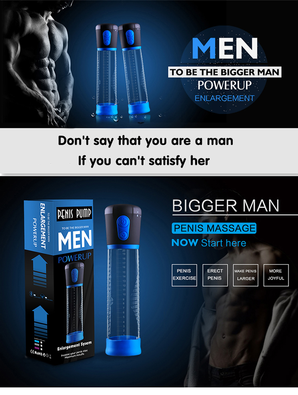 Electric Penis Pump Sex Toys for Men Male Masturbator Penis Extender Penile Vacuum Pump Penis Enlargement Enhancer Massager Ring