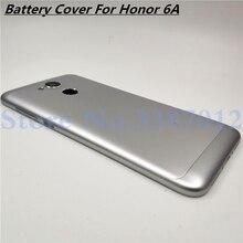 Nouvelle coque arrière en aluminium pour batterie Huawei Honor 6A avec objectif de caméra + boutons de Volume dalimentation