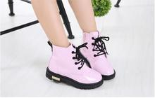 NEW Girls Leather Boots Boys Shoes Spring Autumn PU Leather Children Boots Fashion Toddler Kids Boots Warm Winter Boots