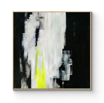 Painting Abstract Black White Painting On Canvas Extra Large Acrylic Abstract Wall Art Minimalism Painting Black Art Home Decor