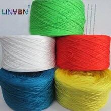 Linha de crochê da cor pura do fio de lã de tricô da mão de 500g para a linha mercerized do bordado da máquina da linha do algodão zl68