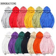 DONGKAIYING Japanese solid color high quality men and women hoodies  Winter Japan Style Hip Hop Casual Sweatshirts Streetwear