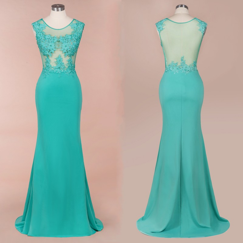 Long Mermaid Green Bridesmaid Dresses 2020 Elegant Sleeveless Wedding Party Guest Gown Lace Applique Beads Vestido Madrinha