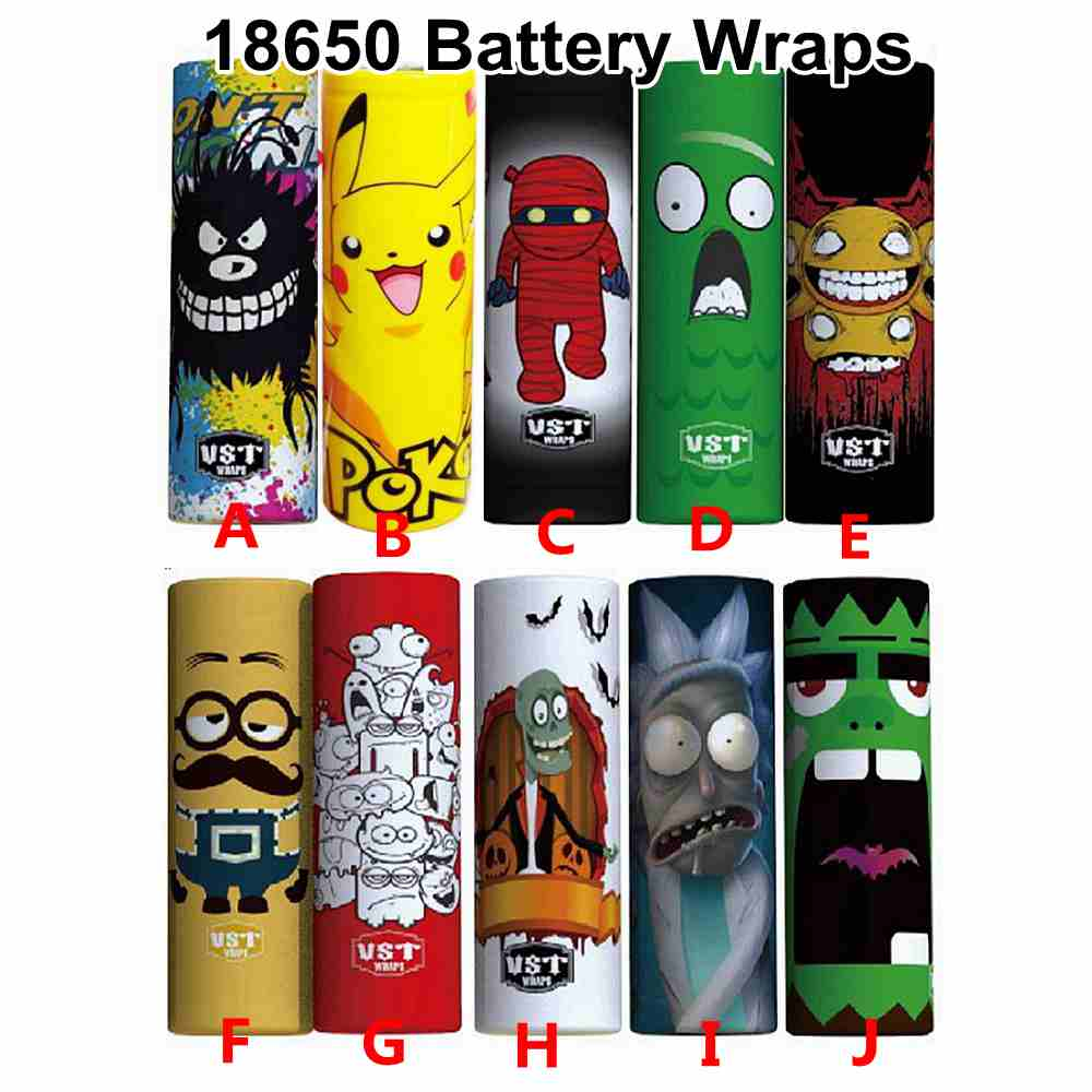 5/10/20pcs PVC 18650 Battery Skin Protective Wrap Skin Sleeve PVC Heat Shrink Insulator Vape Battery Accessories