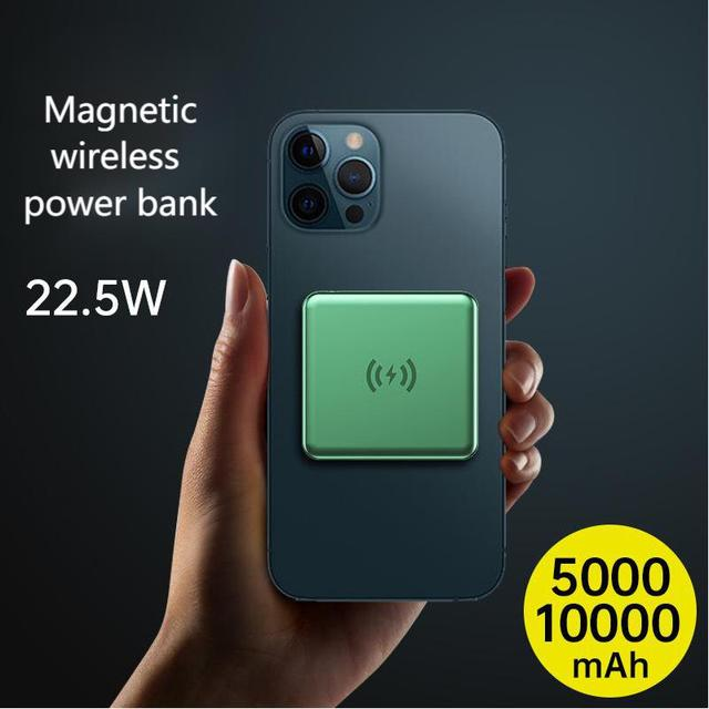 15W Magnetic Built-10000mah Battery Wireless Power Bank For Magsafe iphone 12 Pro Max 12 Mini Portable Charger Mobile Power bank 2