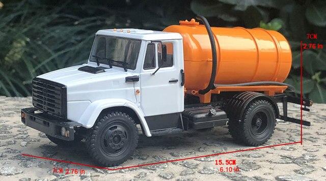 محاكاة 1: 43 الصف السوفياتي الضغط الصب سبيكة ZIL kamazgas نماذج من الشاحنات نموذج سيارة الحاويات الديكور