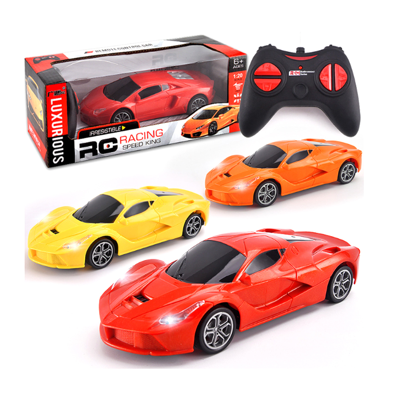 RC Car For Lamborghini For Ferraris Racing Car Road Radio Remote Control Vehicle Electronic Light Gift Kid Toy Random Color 1:20