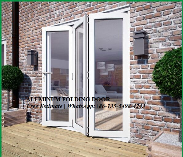 Soundproof Souble Aluminium Folding Home Bi-Fold Door,Energy Saving Bi-folding Doors,Exterior Patio Bi Fold Doors