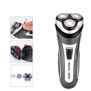 Image 3 - Kemei 2801 חשמלי מכונת גילוח תער גברים מקצועי נטענת זקן מכונה גילוח חשמלי זקן גוזם מכונת גילוח Kemei