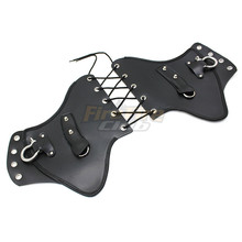 PU Black Leather Heat Saddle Shield Deflectors Raised Studs For Harley Touring Softail Dyna Or Sportster Bikes
