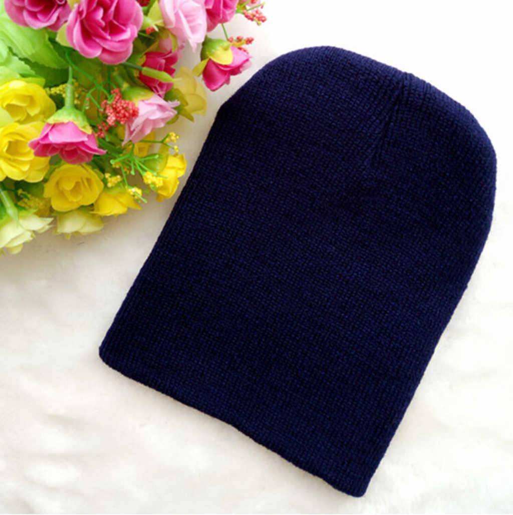 FOCUSNORM เด็กหมวกฤดูหนาว Beanies เด็กผู้หญิงเด็กวัยหัดเดินเด็กทารกเด็กน่ารักหมวกหมวก Unisex หมวกถักของขวัญ 0-4Years