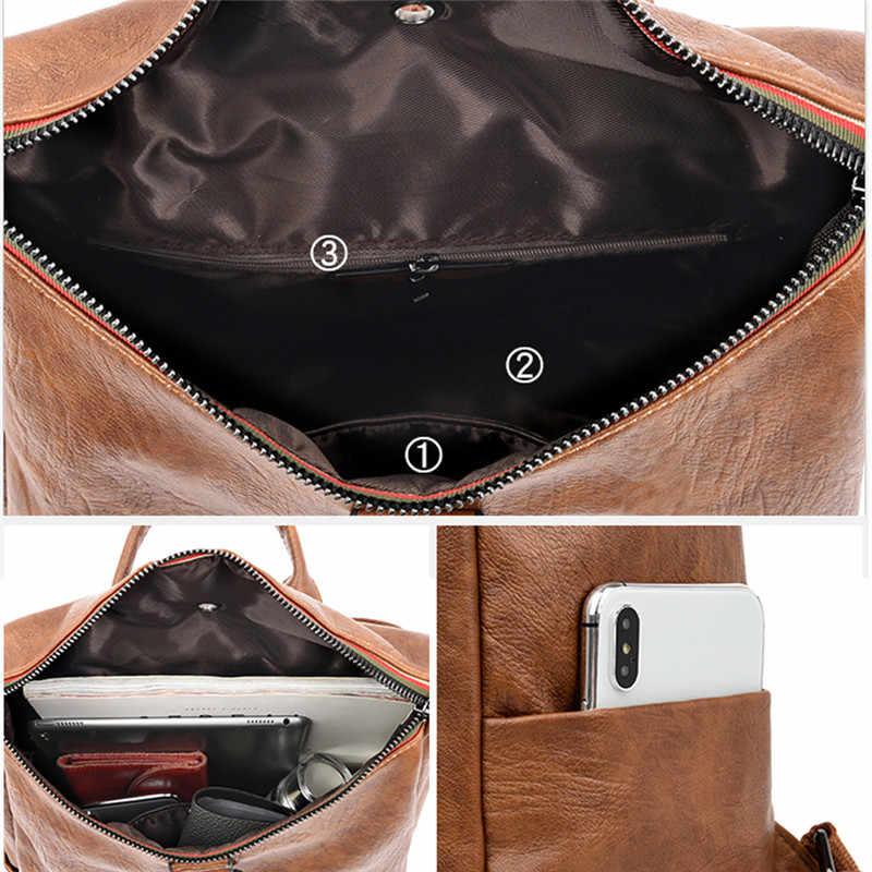 Зимний стильный женский рюкзак высококачественный Молодежный кожаный рюкзак для девочек-подростков женская школьная Сумка Через Плечо Рюкзак Mochila