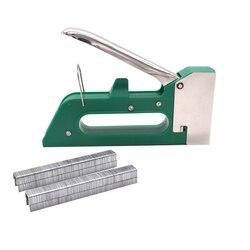Ręczny ręczny zszywacz tapicerski do ciężkich paznokci na drewniane drzwi tapicerskie narzędzia Tacker w Gwoździarki od Narzędzia na