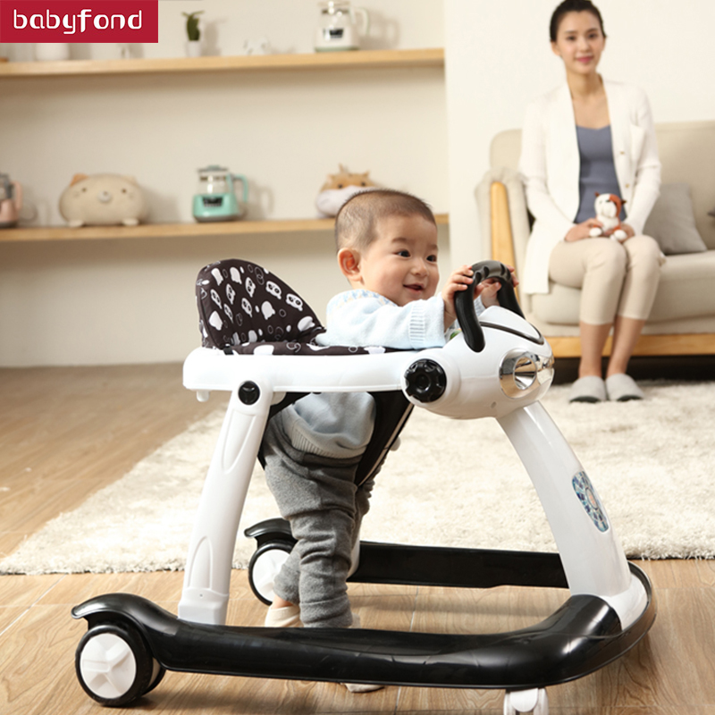 Baby walker multi-functional baby male baby hand push can sit girls young children