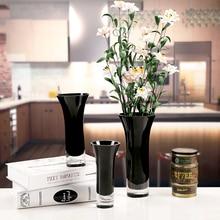 Simple white black glass vase home decoration color vase flower arrangement glass vase living room decoration цена 2017