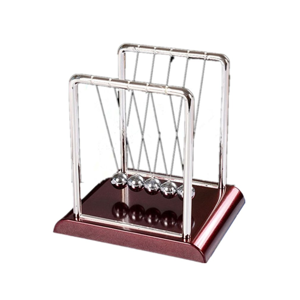 2Pcs Newtons Cradle Steel Balance Balls Physics Science Pendulum Desk Toy