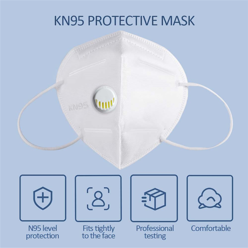 5pcs/10pcs KN95 Respirator Dustproof Mask Anti-fog Anti-virus Face Mask Pm2.5 Mouth Cover Air Filter Dust Proof Protection Masks