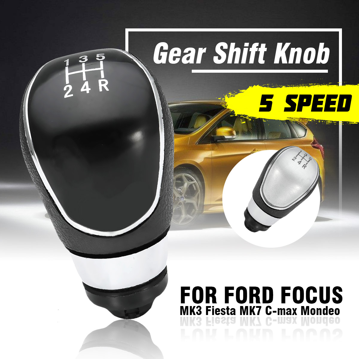 Focus mk2 FL//Focus mk3 S Max//Galaxy mk3 Kuga//Transit C Max//C Max FL//B Max//Mondeo mk4 Bouton de Changement de Vitesse Automobile /à Levier de Vitesses /à 6 Vitesses pour Fiesta mk7