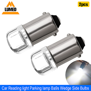 2x BA9S T4W LED Car light bulb T2W T3W H5W interior Car LED License Plate light 2 LED 2835 SMD DC12V 12913 12910 12929(China)