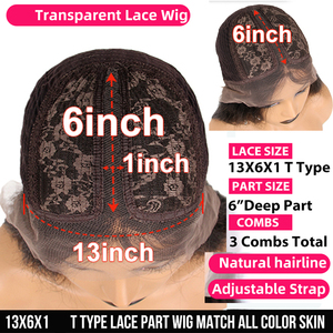 Image 5 - 1B/30 Ombre Color Lace Front Human Hair Wigs Baby Hair 13X6 Deep Part Curly Brazilian Non Remy Lace Wig Free Part Dream Beauty