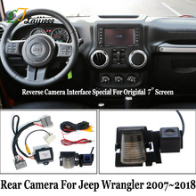 Reverse Camera Kit Voor Jeep Wrangler Jk 2007 ~ 2018/Hd Rear View Backup Camera Compatibel Met Oem Screen geen Behoefte Programmering