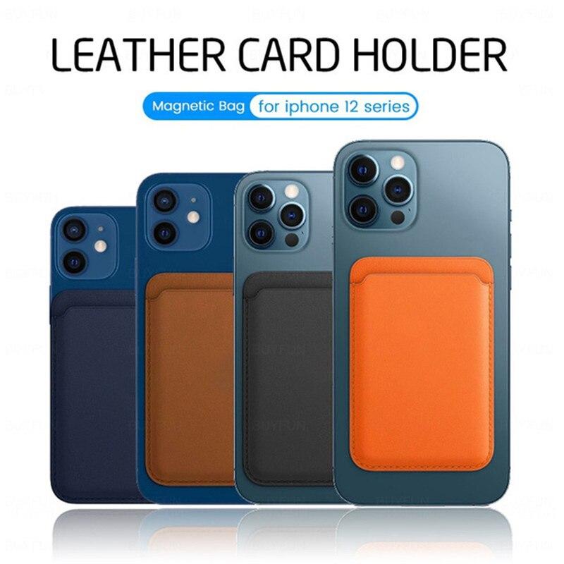 Portafoglio in pelle magnetica con custodia per Magsafe Apple IPhone 12 Pro Max 12 Mini 12Pro Mag custodia sicura porta carte d'identità custodia tascabile