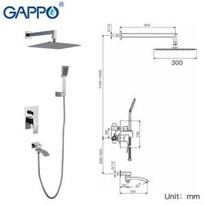 Image 2 - Gappo torneira do chuveiro do banheiro torneiras misturador banho de massagem cabeças de chuveiro cachoeira sistema misturador do chuveiro torneira conjunto