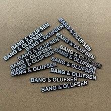 10 pçs 50x5.3cm b & o alto-falante adesivo de alumínio estilo do carro estéreo orador bo emblema emblema adesivo carro accessorie bang & olufsen