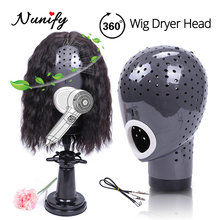 Nunify Black Mannequin Head Wig Dryer Holes Special Heat Resistant Hair Stand To Dry Natural Hair Lace Front Wigs(China)