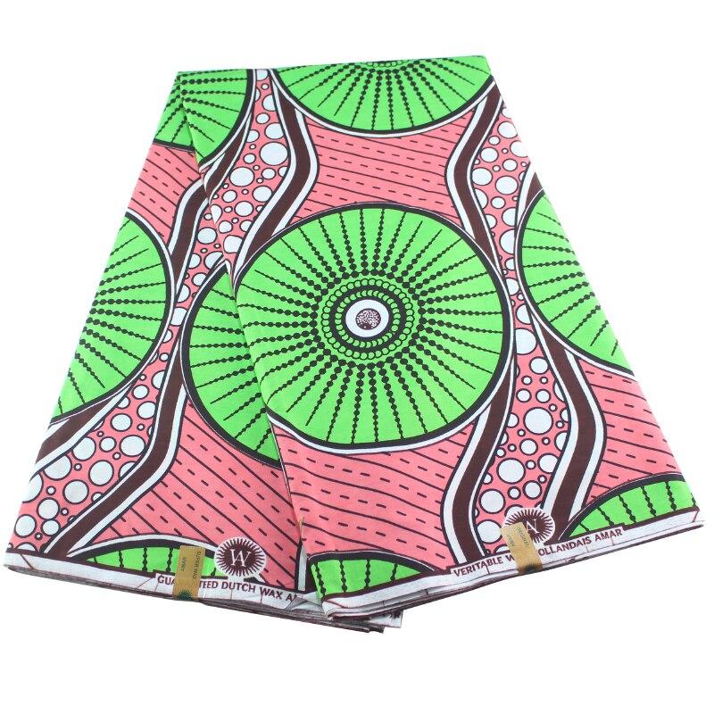 2020 Holland Newest African Print Fabric Pattern Print Wax 6Yards Cloth Wax Africain