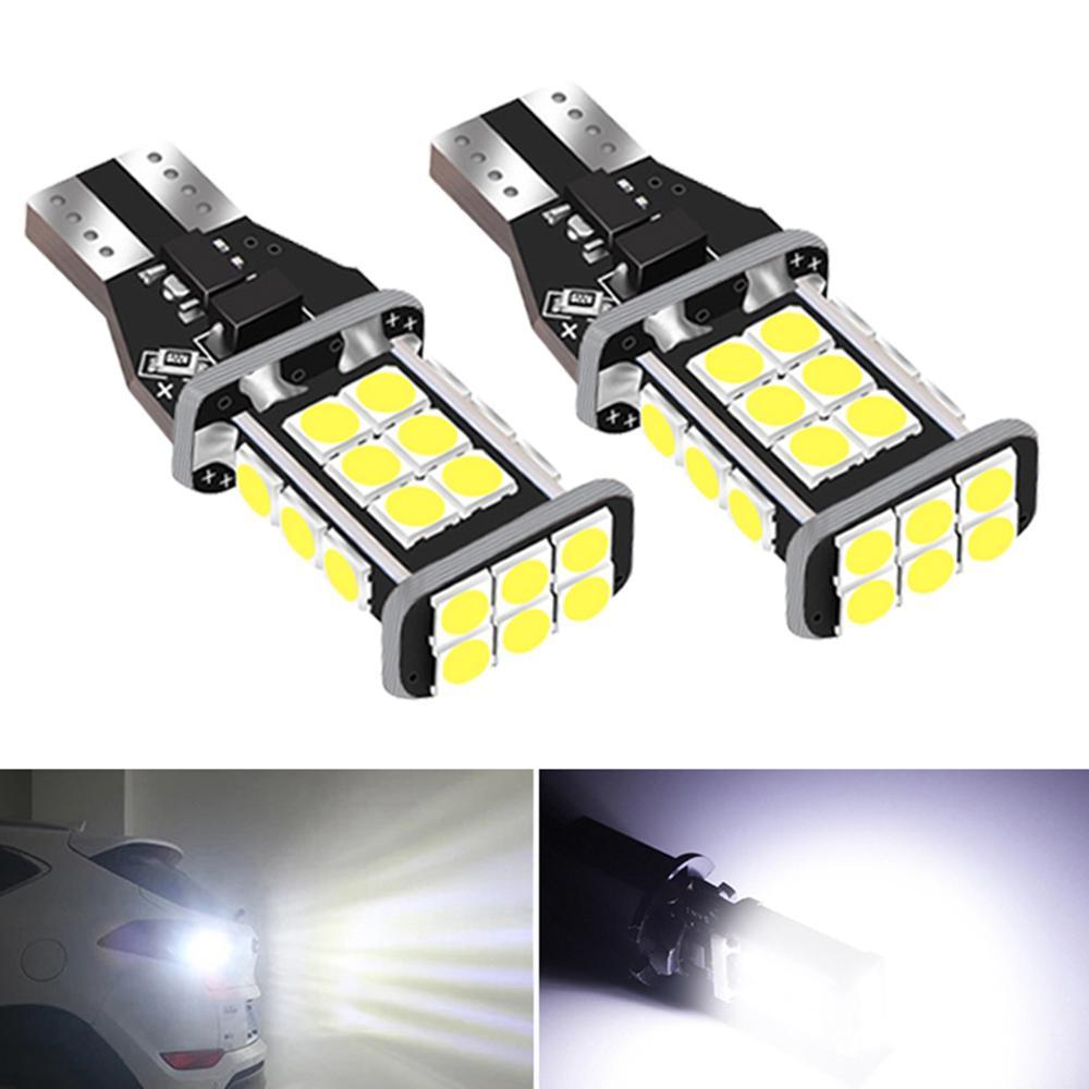 2x T15 W16W супер яркий светодиодный лампочки Canbus автомобильный обратный резервный светильник для BMW E60 E90 E91 Ford Fiesta Fusion фокус Mazda 3 5 6 CX-5