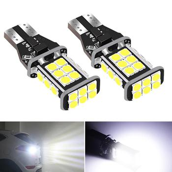 2x T15 W16W Super Bright LED Bulbs Canbus Car Reverse Backup Light for BMW E60 E90 E91 Ford Fiesta Fusion Focus Mazda 3 5 6 CX-5 image
