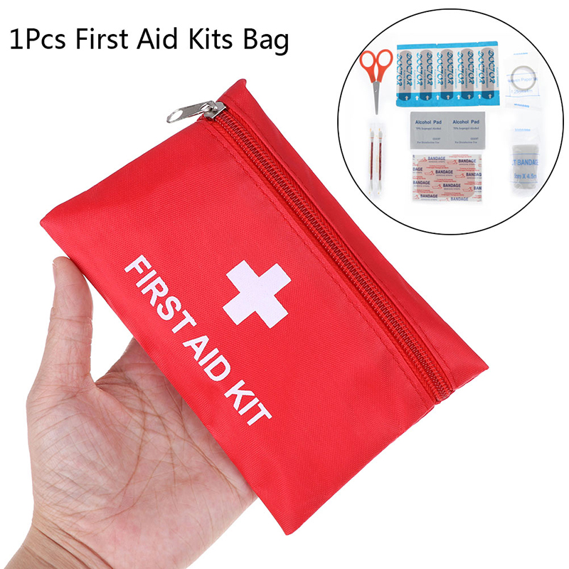 1X Portable Emergency Survival First Aid Kit Pack Travel Medical Sports Bag Case
