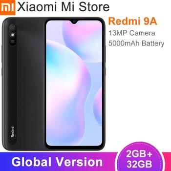 Перейти на Алиэкспресс и купить Новая глобальная версия Xiaomi Redmi 9A мобильный телефон 2 ГБ 32 ГБ MTK Helio G25 Octa Core 6,53 дюйм5000 мАч 13MP камера заднего вида