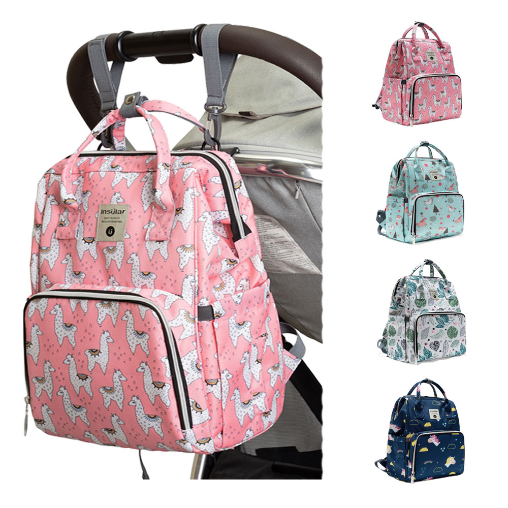 HereNice Portable Shoulder Waterproof Mummy Diaper Organizer Wet Bag Mother Baby Multi-function Travel Backpack For Mom