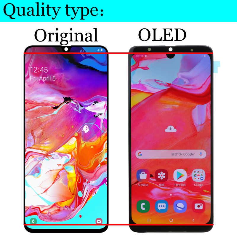100% SUPER AMOLED Display LCD 6.7 ''para Samsung Galaxy A70 A705 A705F SM-A705MN Tela de Toque Digitador Assembléia + Serviço pacote