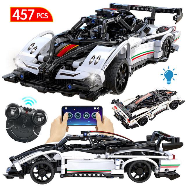 City MOC Technic APP RC Racing Car Building Blocks Creator Remote Control SUV Sports Vehicle Model Bricks Toys for Children Boys
