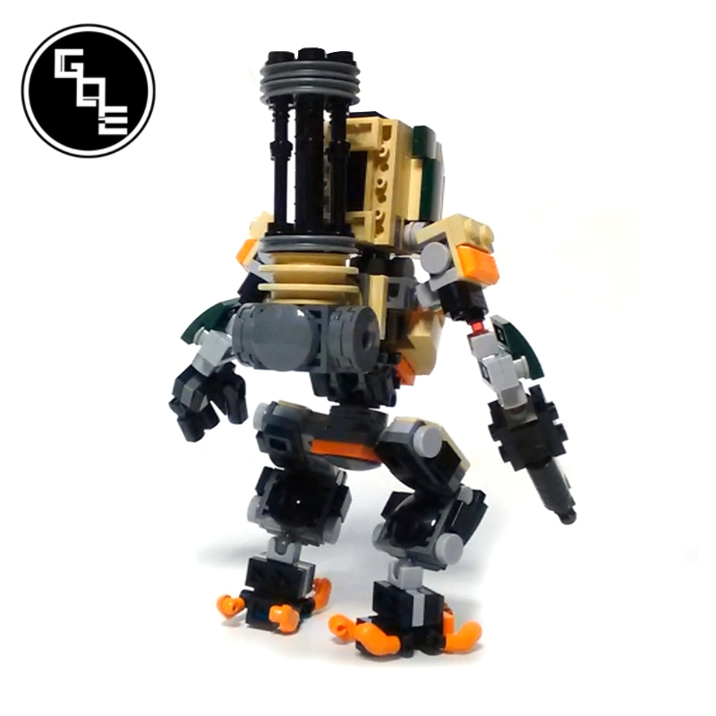 MOC-19381 Overwatch Bastion SD figures building blocks bricks toys for kids gifts 3
