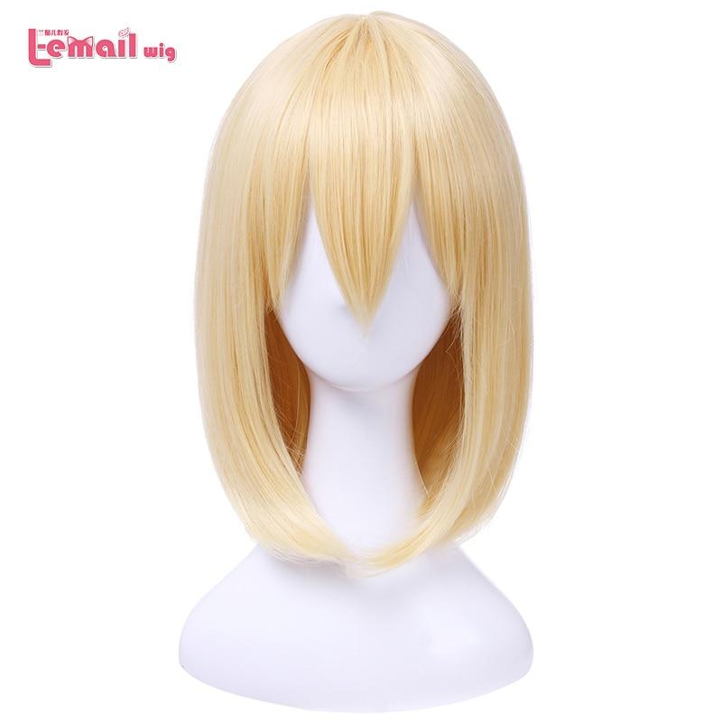 L-e-mail peruca animação ataque em titan cosplay perucas mikasa ackerman armin arlart hans zoe men peruca de cabelo sintético cosplay peruca