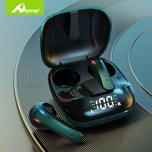 TWS אלחוטי אוזניות אוזניות עם מיקרופון השהיה נמוכה משחק אוזניות באוזן LED 5hrs למשחק מגע אוזניות עבור אנדרואיד iPhone