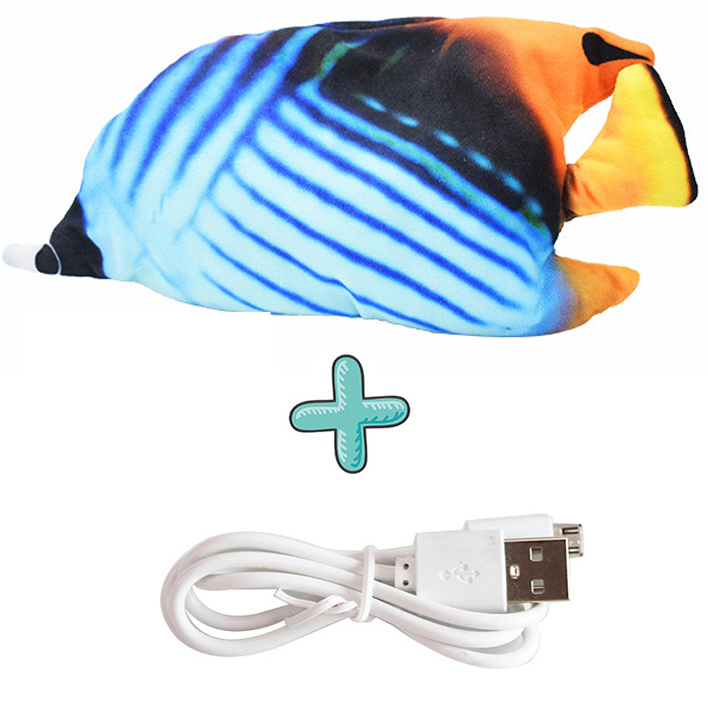 Cat USB Charger Toy Fish Interactive Electric floppy Fish Cat toy Realistic Pet Cats Chew Bite Toys Pet Supplies Cats dog toy 15