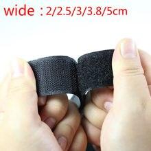 Costurar no gancho e no estilo do laço tiras prendedor de tecido não-adesivo fita de bloqueio gancho prendedor fita nenhuma cola 5 jarda