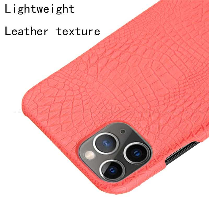 Ultra Slim Buaya Kulit Ular Kulit Case untuk iPhone 11 Pro XR X Max X 8 7 6S 6 plus 5 5S SE 2020 5C SE2 Hard Pc Back Cover