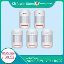 KERUI 5 pz/lotto rivelatore intelligente senza fili PIR rilevatore di movimento per allarme senza fili GSM PSTN quadrante automatico sicurezza domestica