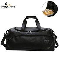 Schulter Weiche Leder Gym Taschen Reisetasche für Männer Männer Sport Fitness Gymtas Duffel Ausbildung Gepäck Tas Sac De Sport 2019 XA5WD