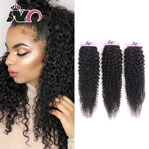 NY Weave Bundles Hair-Extension Curly Kinky Natural-Color Brazilian 100%Human-Hair Hair-3piece