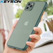 KEYSION Fashion Matte Case for iPhone 11 Pro Max Shockproof Transparent Phone back Cover Apple