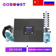 GOBOOST GSM Repeater 2G 3G 4G wzmacniacz sygnału komórkowego 4G wzmacniacz komórkowy GSM 900 1800 2100 wzmacniacz sygnału komórkowego Repeater