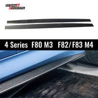 Universal Carbon Side Skirt For BMW 4 Series M3 F80 M4 F82 F83 Car Body Kits Skirts Bumper